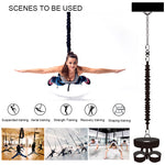Heavy Bungee Cord Resistance Belt Kit Aerial Trapeze Yoga Workout Gravity Training Tool Equipment for  Home Gym Studio