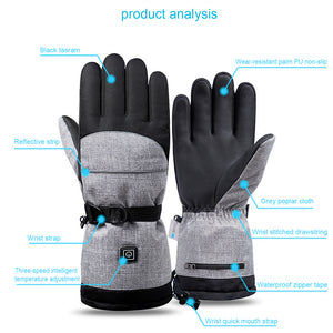 Battery Powered Electric Winter Heated Gloves with 3 Heating Levels  for Hunting Fishing Skiing Camping Cycling