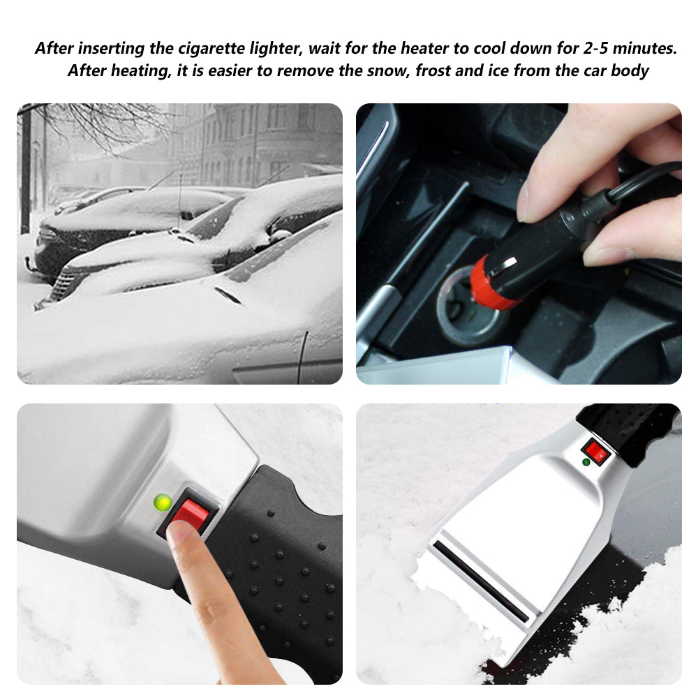 Electric Snow Shovel Cigarette Lighter Ice Scraper for Winter Vehicle Snow Removal Tools