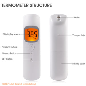 Portable Non-Contact Infrared Thermometer Gun Digital Ear Thermometer for Baby Toddler Adult Outdoor
