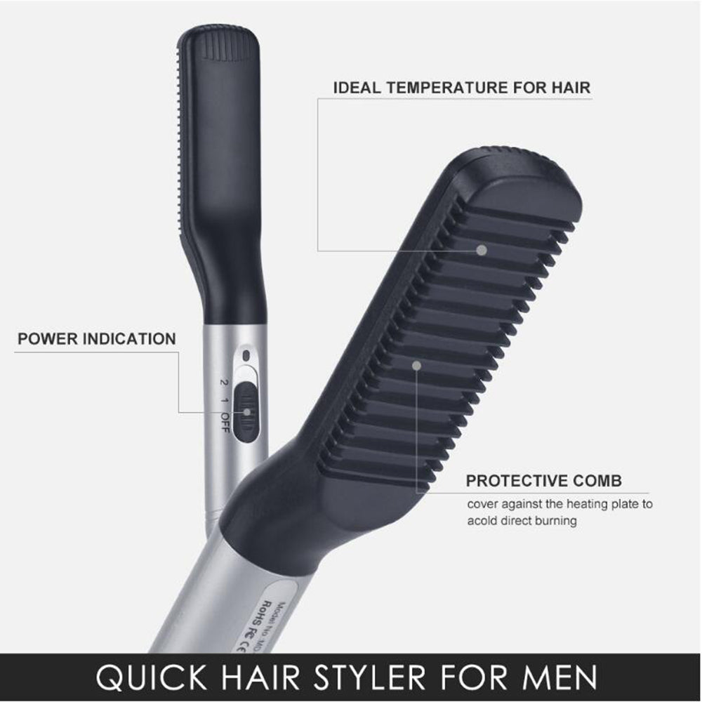 Electric Beard Straightener Brush Ionic Beard Straightening Brush  with Dual Voltage 110-240V