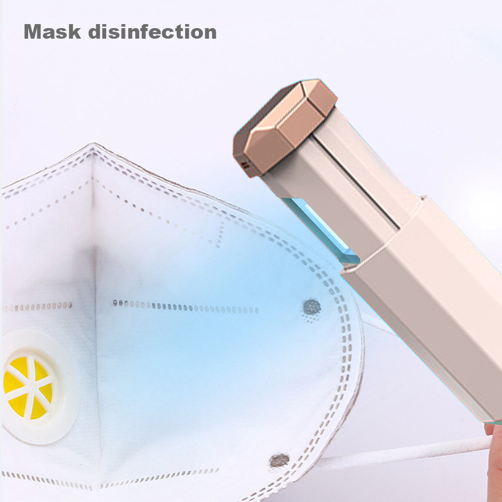 Protable Handheld UV Disinfection Lamp UV Sterilizer Wand for Mobile Phones Clothes Bedding