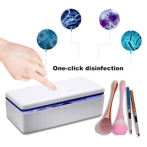 LED UV Sterilizer Box UV Light Bacteria Sanitizer for Cell Phone Makeup Tools Toothbrush