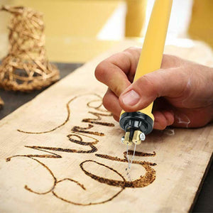 60W Wood Burning Kit Pyrography Machine with Dual Pens Digital Temperature Control