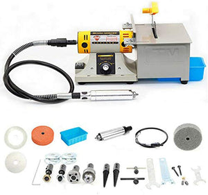 TM-2 10000r/min Jewelry Rock Polisher Grinder Bench Lathe Polisher Machine Mini Multifunction Buffer Mill polishing with Polishing Pads