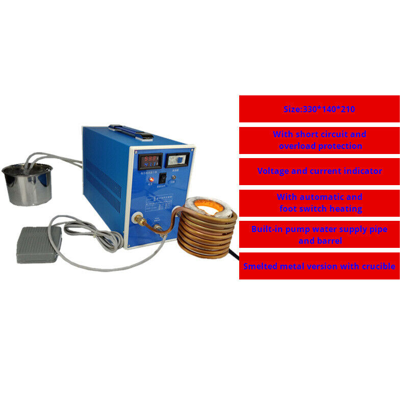 ZVS High-frequency Induction Heater Machine Metal Smelting Furnace Welding Metal Quenching Equipment