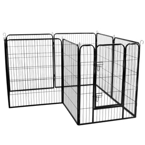 40 inch Dog Pen Foldable Metal 8 Panels Exercise Pen Pet Playpen Puppy Cat Exercise Fence Barrier Playpen Kennel