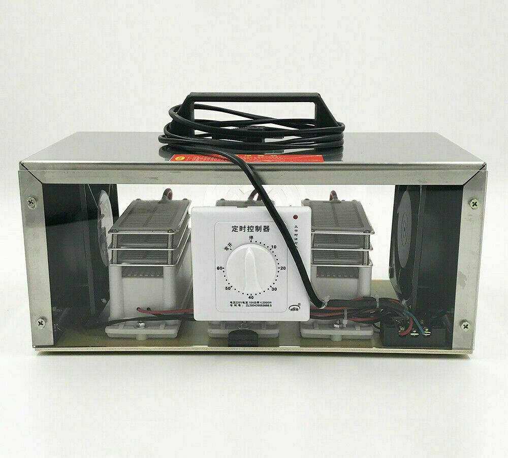 110V 30000mg/h Efficient Ozone Generator Air Purifier Sterilizer with 3 Long life Ozone Plates