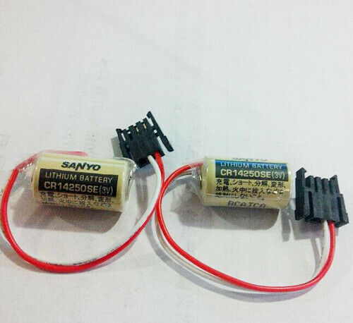 2 Pack Sanyo CR14250SE 1/2AA 3V PLC Battery 1747-BA Backup Power Supply with Plug