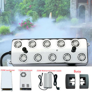 Ultrasonic Mist Maker Fogger Humidifier Transformer with 10 Heads 5-7L/h