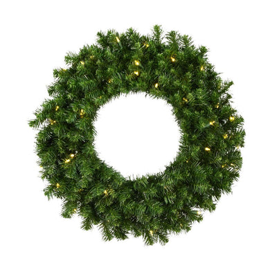 30 inches Douglas Fir Wreath 240T 50WmWht LED