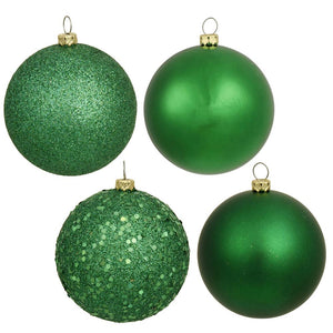 4 inches Green 4-Finish Ball Asst 12/Bx