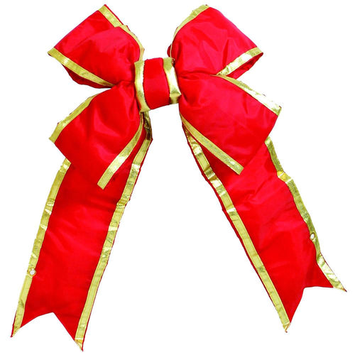 18 inches x 23 inches Red-Gold Nylon Outdoor  Bow 6 Sz