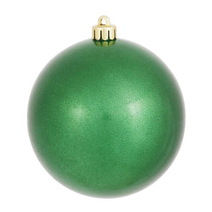 4 inches Green Candy Ball UV Drilled 6/Bag