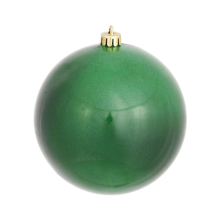 4 inches Emerald Candy Ball UV Drilled 6/Bag