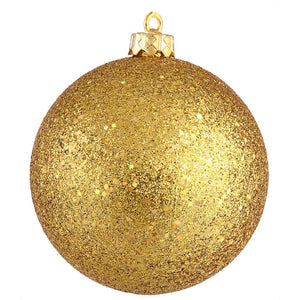 4 inches Antique Gold Sequin Ball Drilled 6/Bg