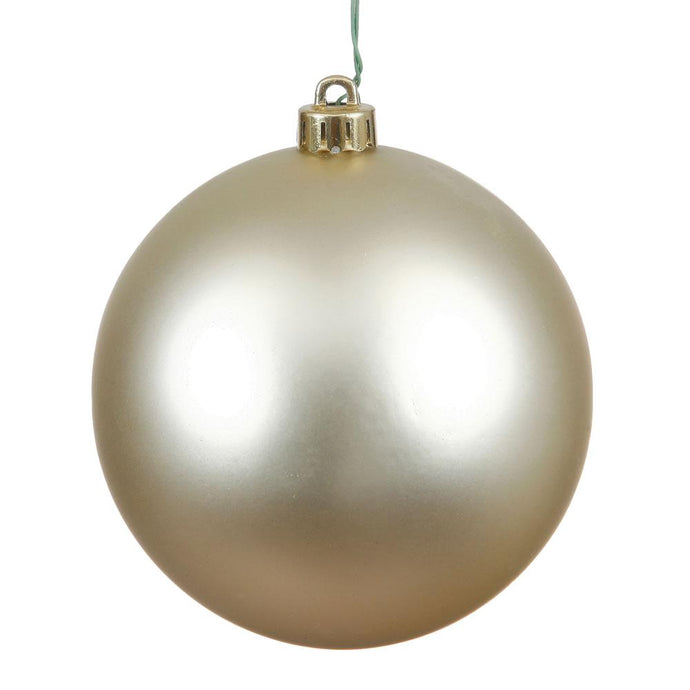 4 inches Champagne Matte Ball UV Drilled 6/Bag