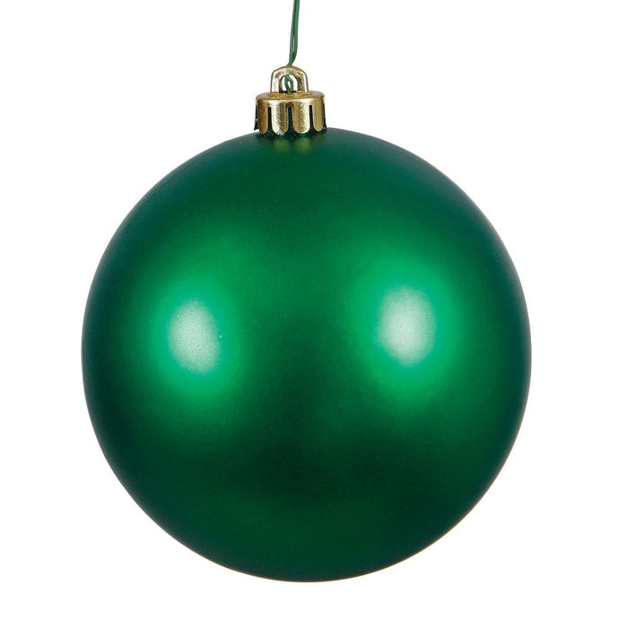 4 inches Emerald Matte Ball UV Drilled 6/Bag