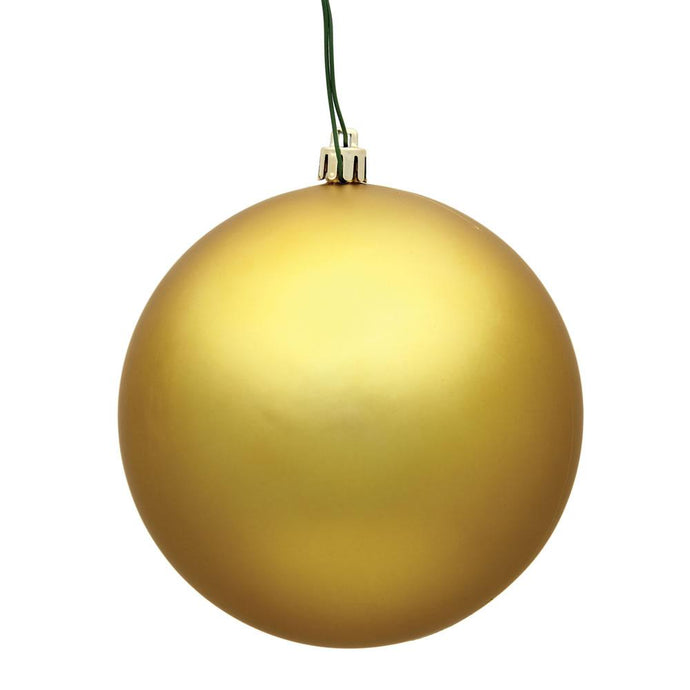 4 inches Gold Matte Ball UV Drilled 6/Bag