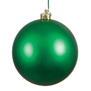 4 inches Green Matte Ball UV Drilled 6/Bag