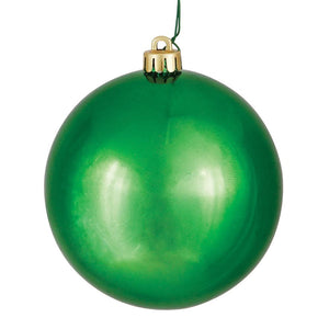 4 inches Green Shiny Ball UV Drilled 6/Bag