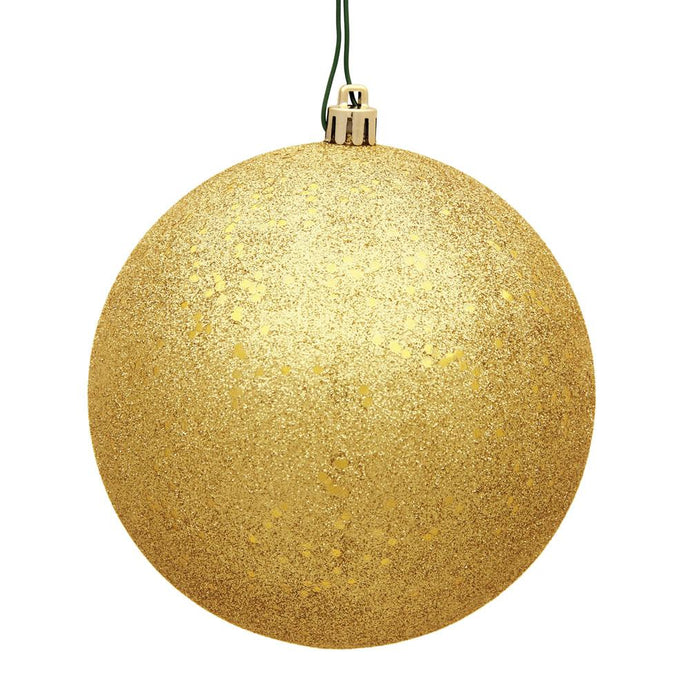 4 inches Honey Gold Sequin Ball Drilled 6/Bag