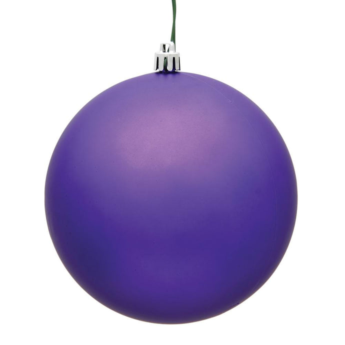 4 inches Purple Matte Ball UV 6/Bag