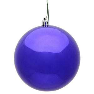 "4"" Purple Shiny Ball UV 6/Bag"