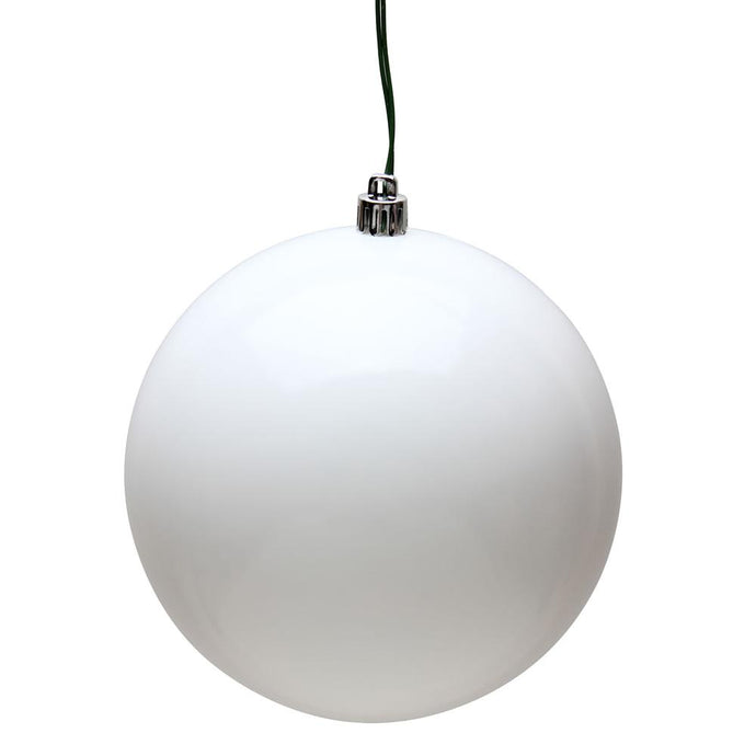 4 inches White Candy Ball UV 6/Bag