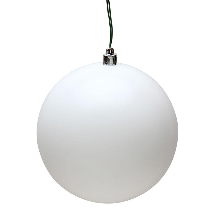 4 inches White Matte Ball UV 6/Bag