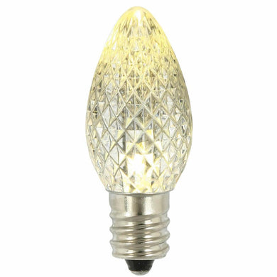C7 Faceted LED Warm White Bulb .96W