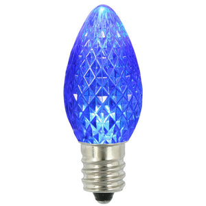 C7 Faceted LED Blue Bulb .96W