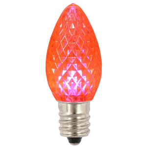 C7 Faceted LED Pink Bulb .96W