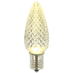 C9 Warm White Faceted LED Bulbs 5 Pack