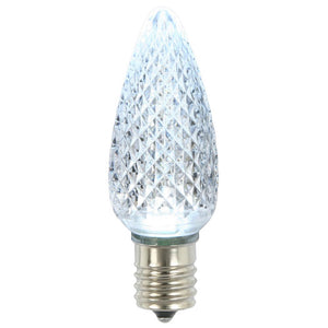 C9 Faceted LED Cool White Bulb .96W