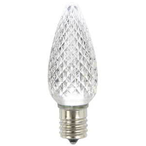 C9 Faceted LED Pure White Bulb .96W
