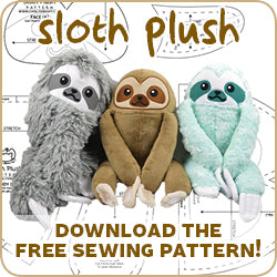 Free Sloth Sewing Pattern