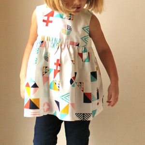 Geranium Dress Paper Pattern Kids Sizes 0-5T - Prickly Pear Fabrics