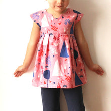 Load image into Gallery viewer, Geranium Dress Paper Pattern Kids Sizes 0-5T - Prickly Pear Fabrics