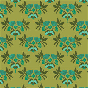 Cloud9 Fabrics Organic Forest Jewels Emerald Stems Green Fabric