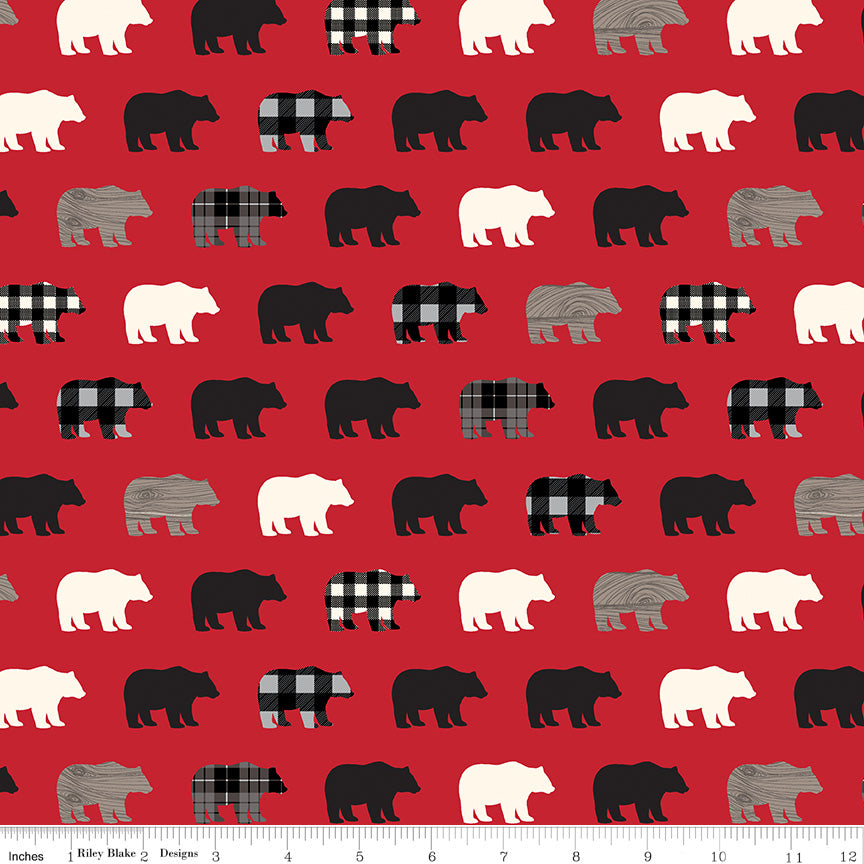 Wild at Heart Fat Quarter Bundle 24 pieces Free US Shipping Riley Blake Designs Outdoors Quilting Cotton Fabric Pre cut Precut