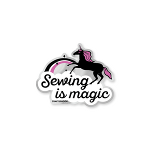 Craftedmoon Sewing is Magic Sticker