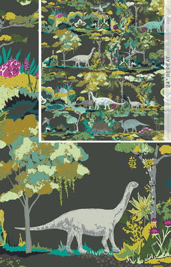 Art Gallery Fabrics Dinosauria in Canvas Fabric