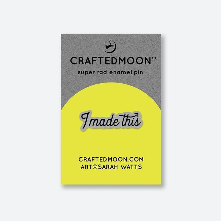 Craftedmoon I Made This Enamel Pin