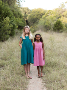Geranium Dress Paper Pattern Kids Sizes 6-12 - Prickly Pear Fabrics