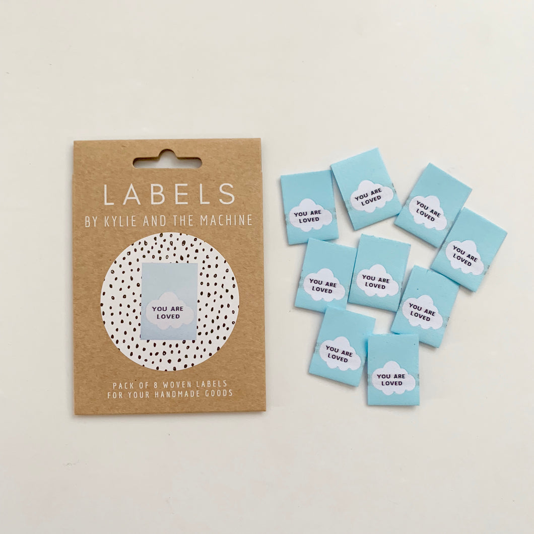 Woven Labels - You Are Loved - Prickly Pear Fabrics