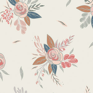 Art Gallery Fabrics Montrose Blossoms Creme in Knit