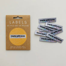 Load image into Gallery viewer, Woven Labels - Made with Love and Swear Words - Prickly Pear Fabrics