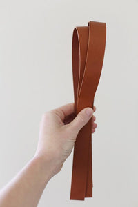 "1""-wide Leather Handle set – Cinnamon"