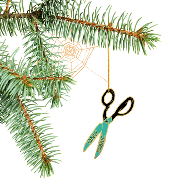 Special Edition Fabric Only Scissors Tree Ornament
